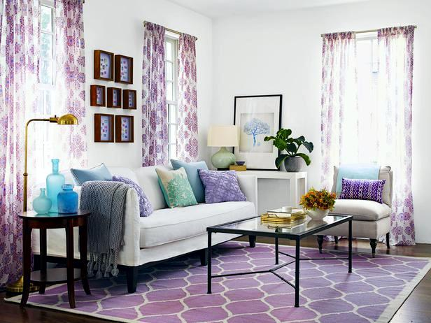 ... Purple And Source · A Living Room 3 Cheap Interior Design Ideas In  Different Colors Part 69
