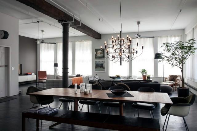 Parisian loft kitchen