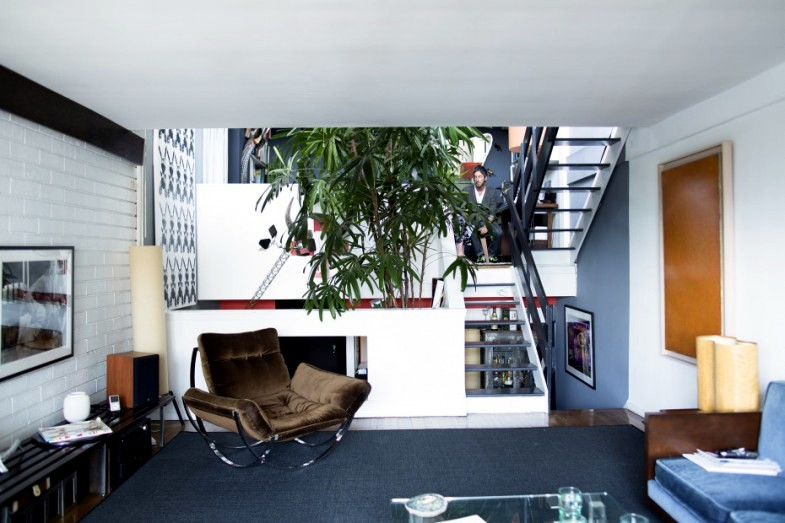 A penthouse apartment in Greenwich Village