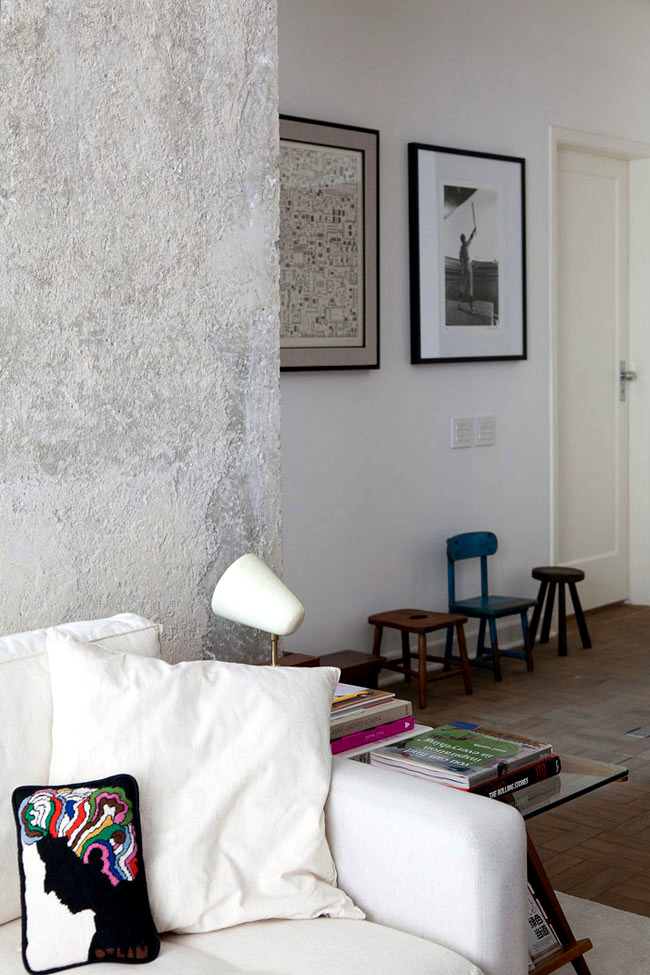 A renovated by architect Felipe Hess apartment