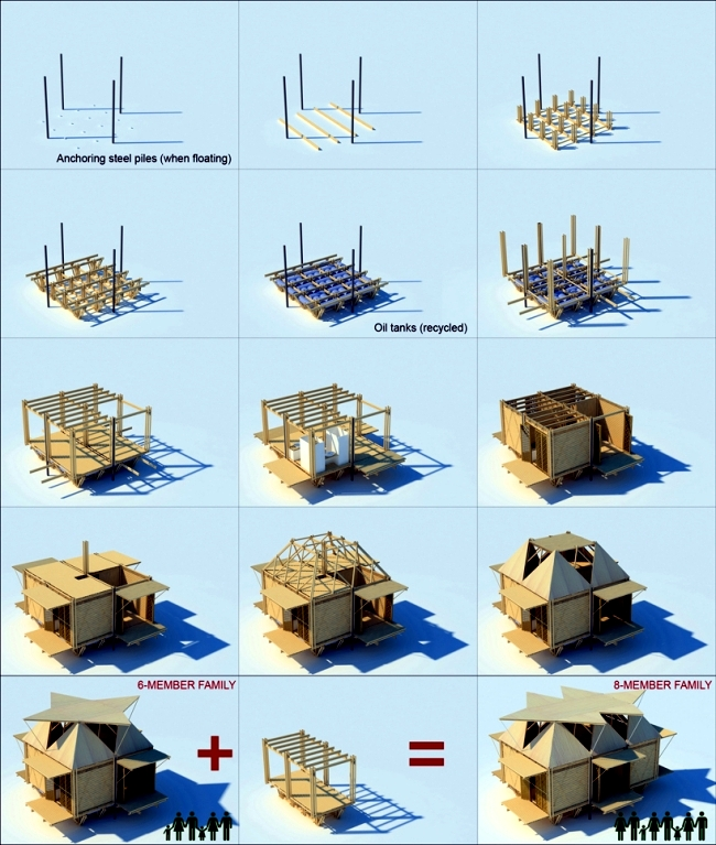 A residential project in Vietnam - Bamboo houses for flood-prone regions
