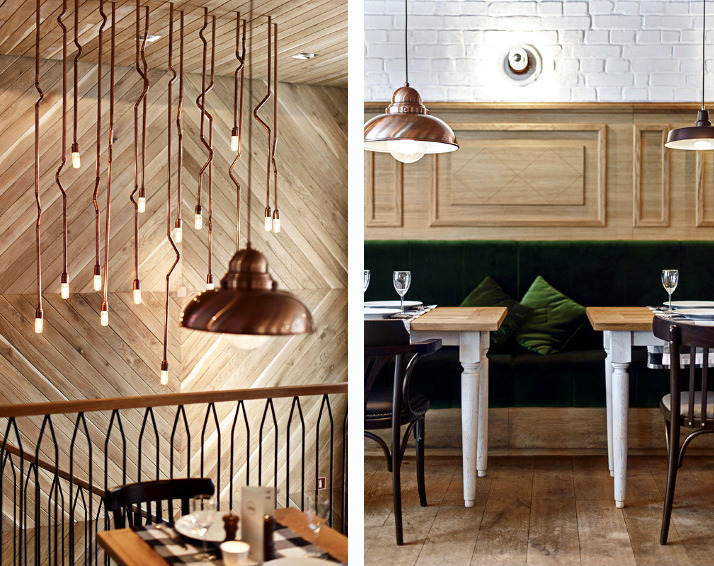 A Restaurant In The Chic Rustic Decor Interior Design Ideas Ofdesign