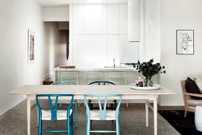 decoration white apartment