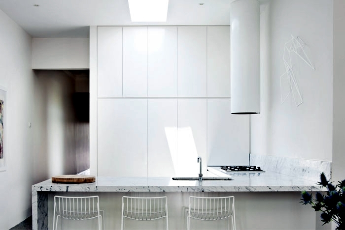 A snow-white interior