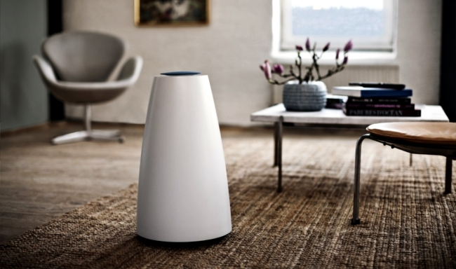 A sound system from Bang & Olufsen design in minimalist style