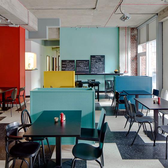office colorful deco design