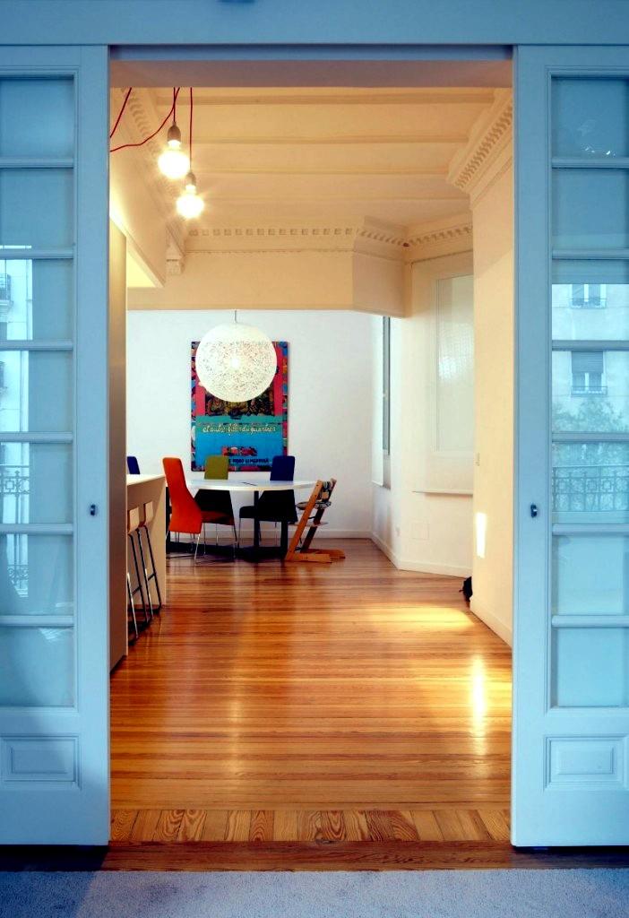 A white apartment