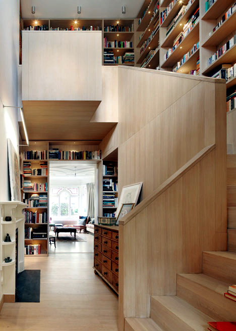 library wooden house