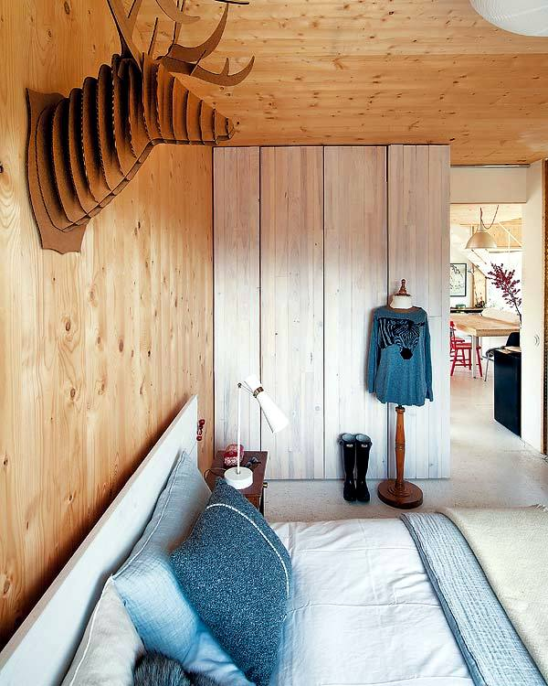 A wooden house design