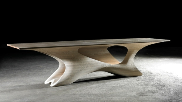 Amazing Futuristic Dining Table Design Interior