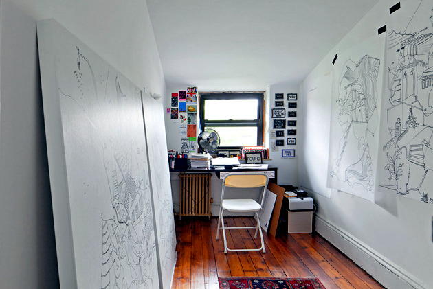 An animated by Shantell Martin inside