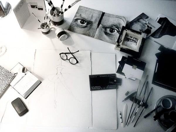 An artist's studio