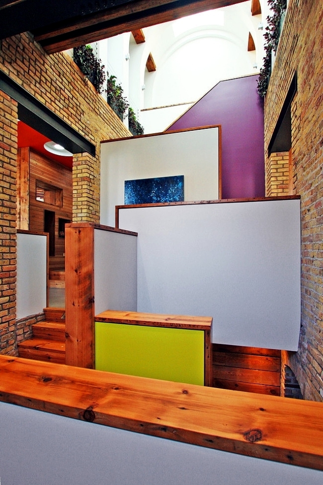 An Old School House In Chicago Turned Into Modern Penthouse Apartment Interior Design Ideas