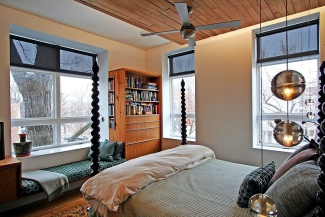 An old school house in Chicago turned into modern penthouse apartment