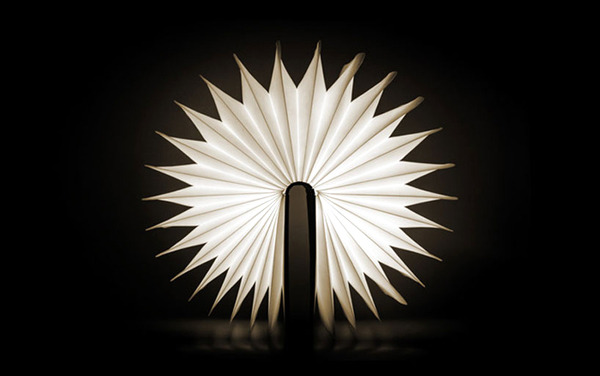 An unusual idea for designer table lamp in the form of a book