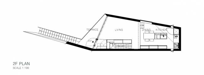 "Architect house ""Arrow"" in Tokyo with an asymmetrical floor plan"