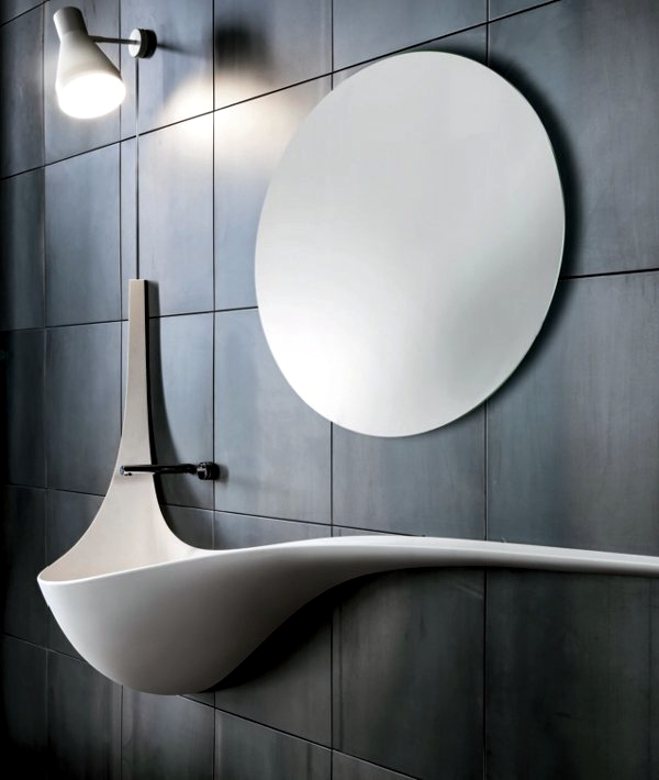 Architectural sink design with dynamic wing shape