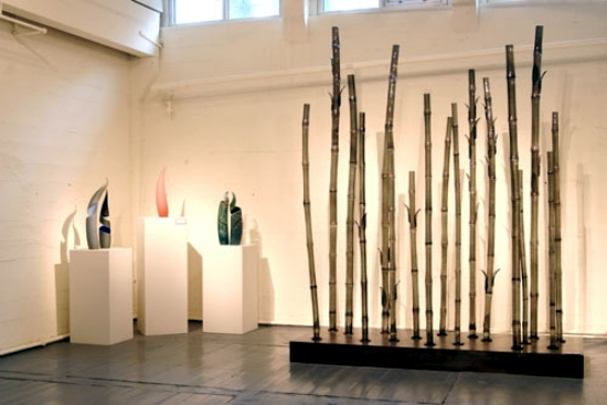 Art installations by Jean-Pierre Canlis wheat and bamboo glass