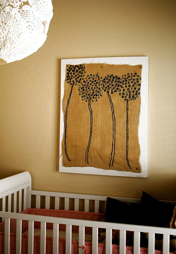 Art wall decoration to make your own refined interior