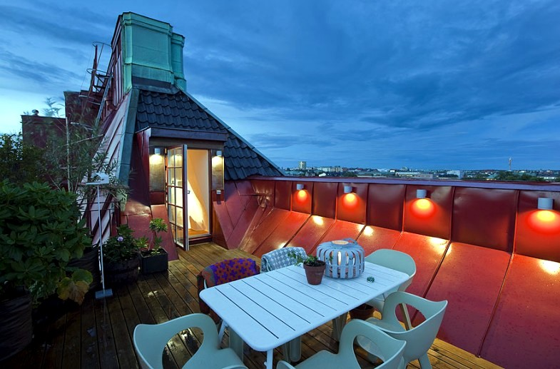 deco roof terrace