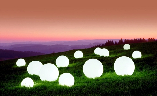 Attractive Ball Outdoor Lighting Indirect For The Garden