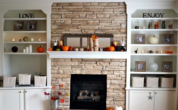 Autumn decorate the mantel-25 creative craft ideas