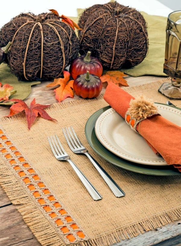 Autumn decoration do it yourself - Ideas for loving napkin rings