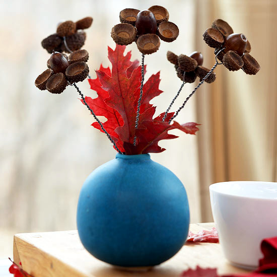 Autumn Decoration From Natural Materials