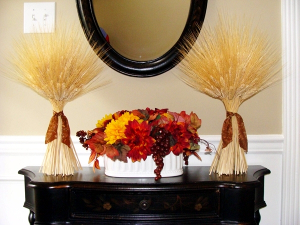 Autumn decoration nature to make yourself - 12 Ideas with wheat ears