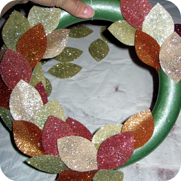 Autumn wreath do it yourself - Fast Craft Ideas for Autumn decoration