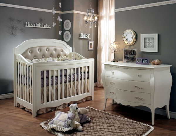 Baby nursery design - classic furniture for girls and boys