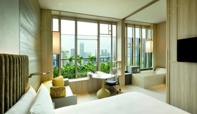 Back to nature with the modern designer Park Royal Hotel in Singapore