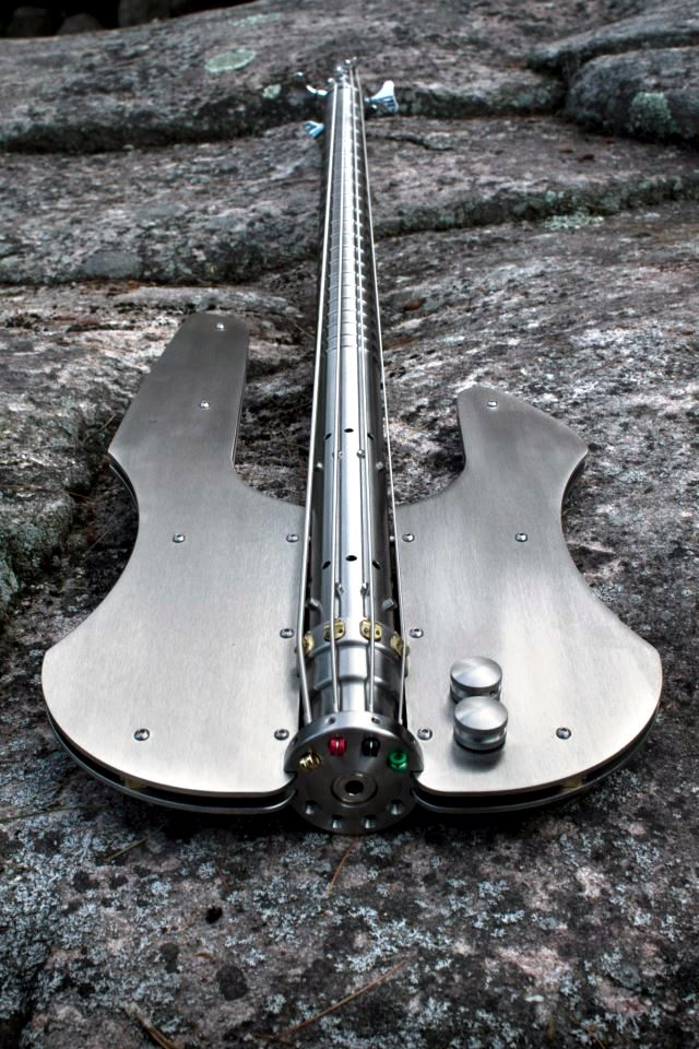Bass guitar designer stainless steel with a timeless look-Stainless Stash