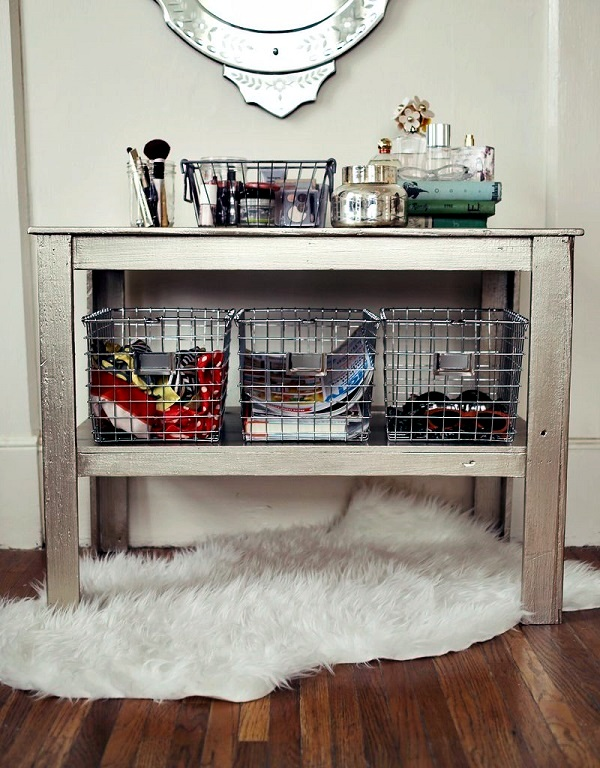 Beautiful storage ideas and home organization aids for