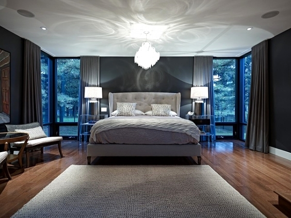Bedroom lighting design ideas for cozy rooms with light interior