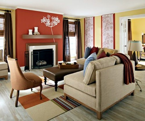 Before and after pictures: Prepare the living room to the autumn