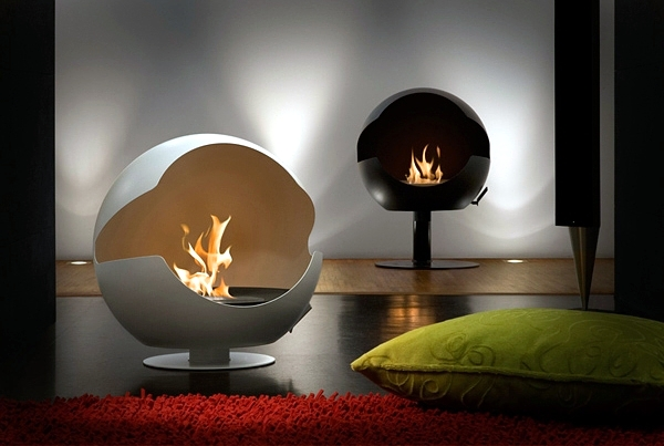 Bio ethanol fireplace in top quality - charming, safe, environmentally friendly