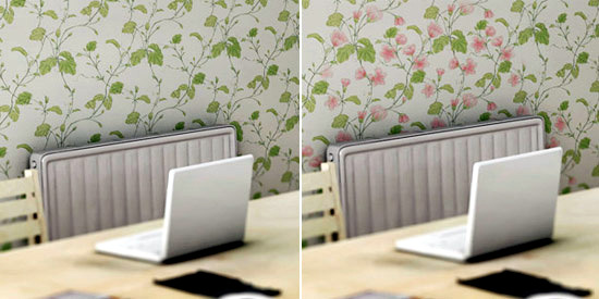 Bizarre wallpaper design based on the interaction with the people