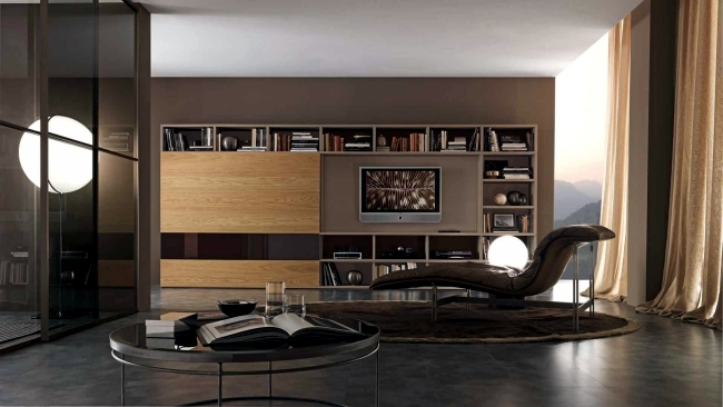 Bookshelf systems from Presotto Italia - a highlight in the living room