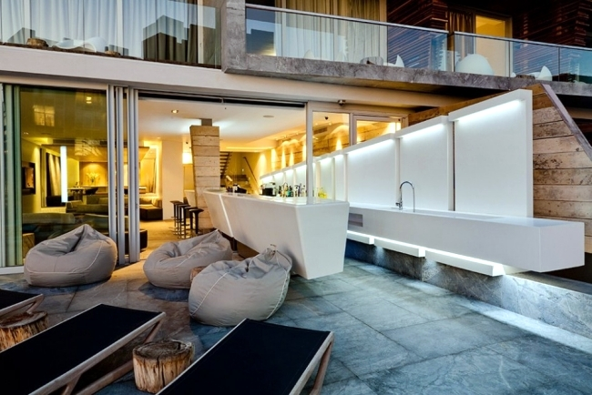Boutique Hotel in Cape Town is modern architecture composition represents