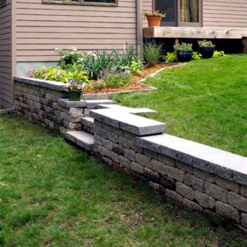 Build Retaining Wall In The Garden Itself Simple And