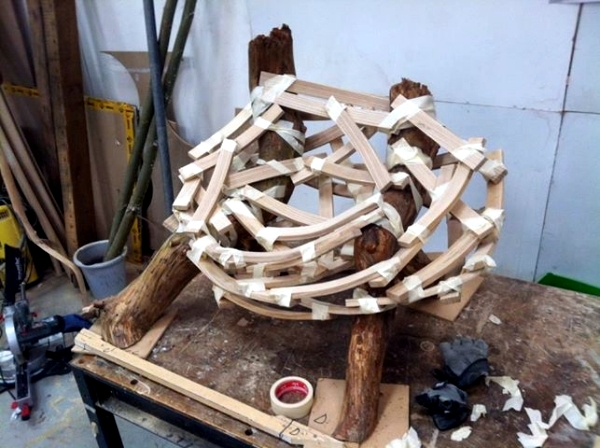 """By a nest-inspired designer armchair """"Eyrie"""" by Floris Wubben"""