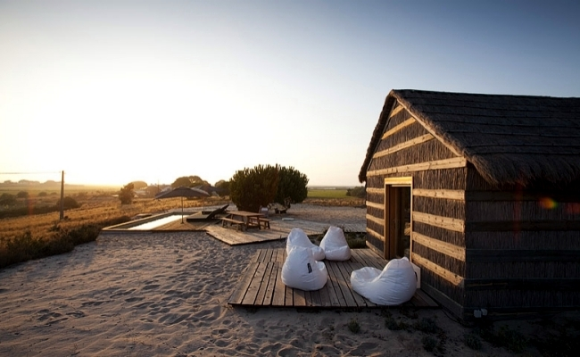 CasasNaAreia Bungalow Resort Is Located In The Alentejo, Portugal Near The  Beach And The Sado Estuary. The Houses Were Thatched Roofs Me Provide An ...