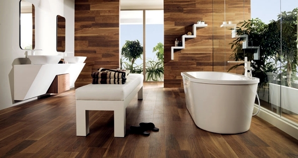 Ceramic tiles in wood design from Porcelanosa for each area ...