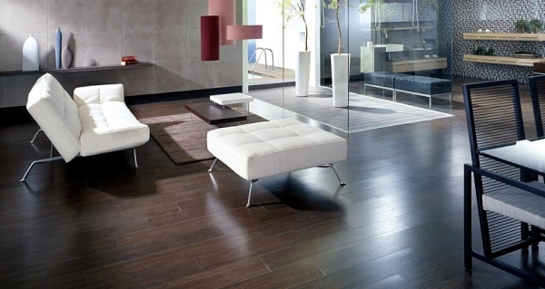 Ceramic tiles in wood design from Porcelanosa for each area