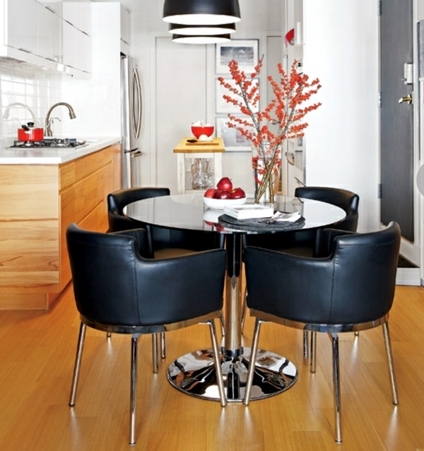 Charming small apartment gets a new look with modern color accents