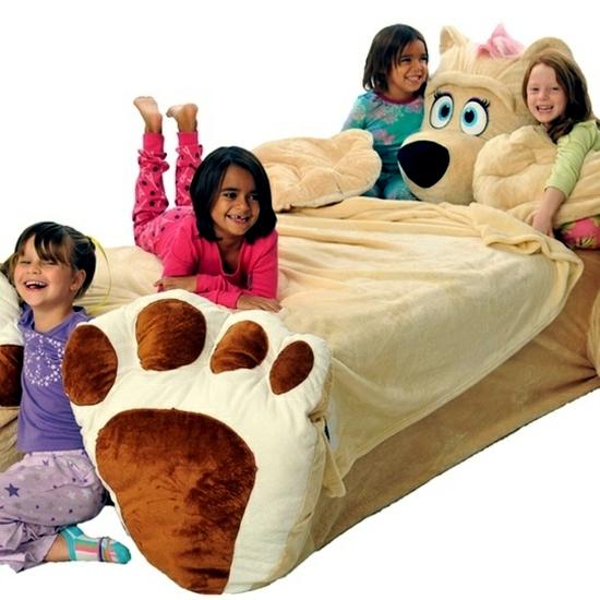 Children Bed Design Cozy Plush Animal To Get
