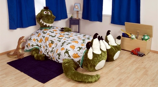 Children Bed Design - cozy Plush Animal to get children to sleep
