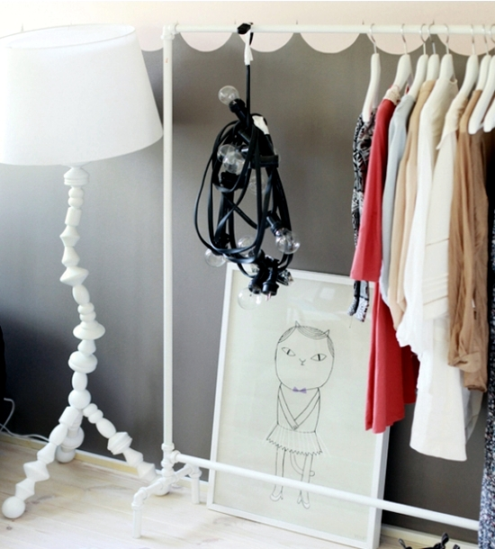 classify the clothes without cabinet design ideas for clothes rack