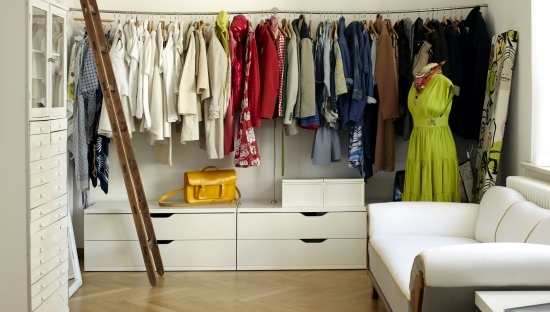 Classify the clothes without cabinet - design ideas for clothes rack